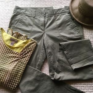 Ann Taylor Loft olive/army green pants